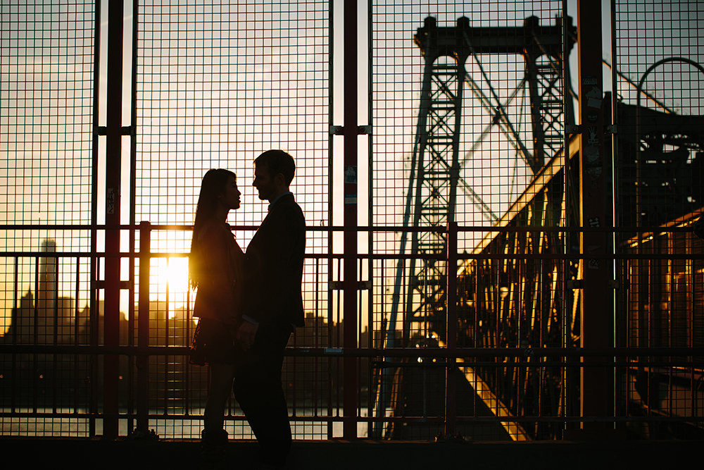 NYC engagement sunset