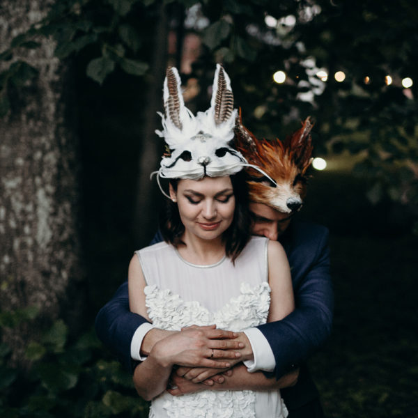 <em>Masquerade Wedding Photography</em> Rāmavas Muiža // Inga & Martins