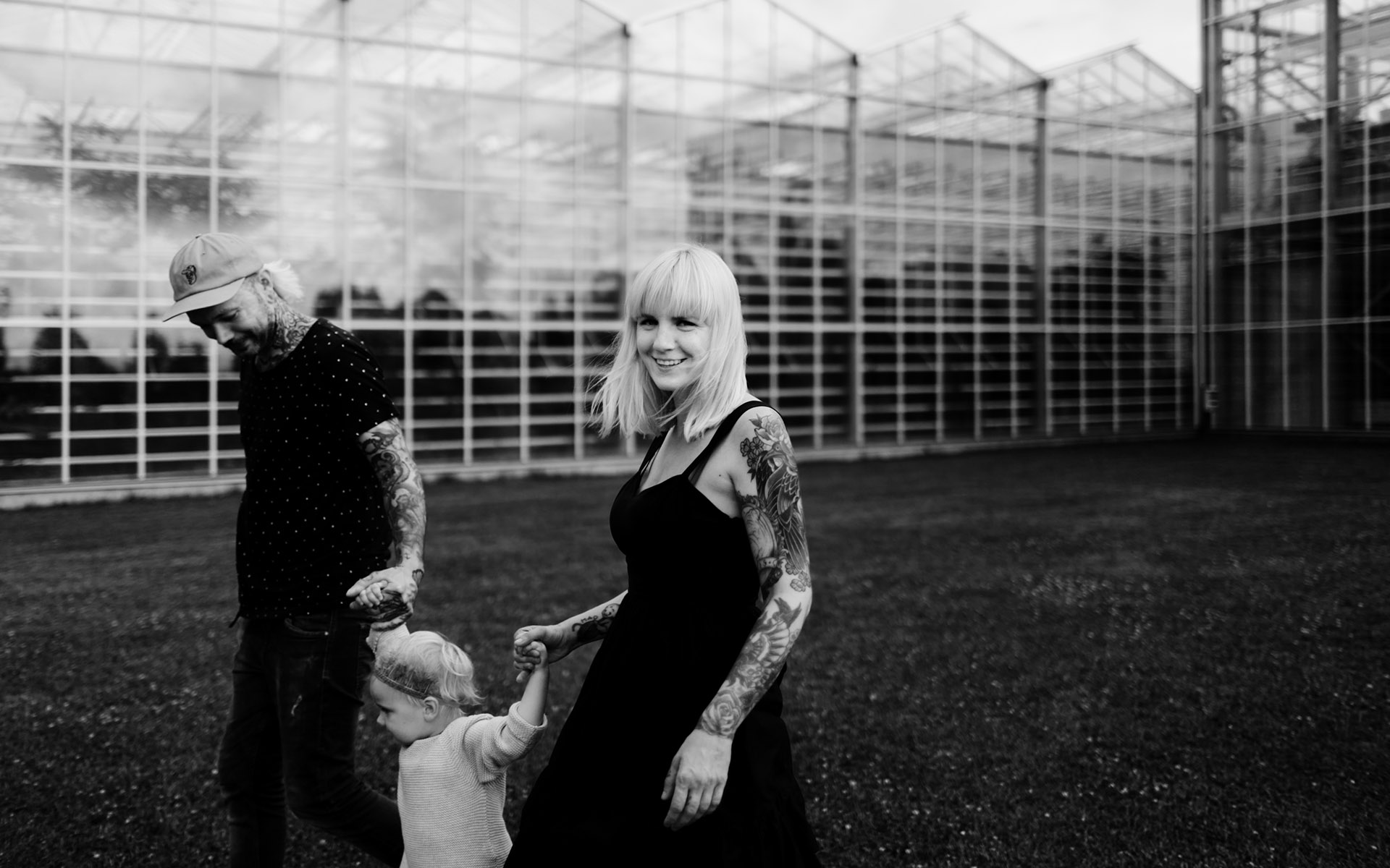 tattooed family photography